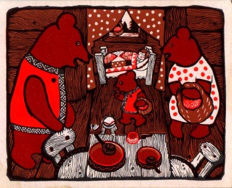 три медведя фото из сказки