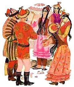 Киргизская народная сказка Мудрая девушка