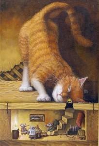 Адыгейская народная сказка Как старый кот обратился в хаджи